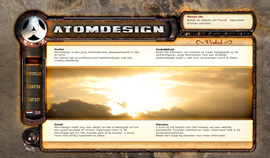 De oude website van Atomdesign