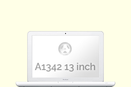 Opengeklapte Macbook A1342