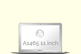 Opengeklapte Macbook Air 11 inch