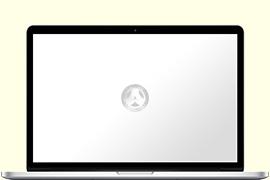 Opengeklapte Macbook Pro Retina met Anandtech op het scherm